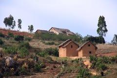 Typische huisvesting Malagsy stock afbeeldingen