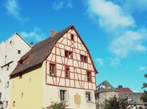 Typische huizen in Colmar, Frankrijk Royalty-vrije Stock Foto's