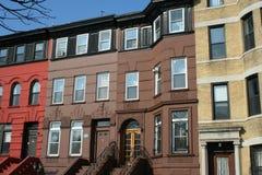 Typische huizen in New York Royalty-vrije Stock Foto's