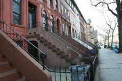 Typische huizen in New York Royalty-vrije Stock Afbeelding