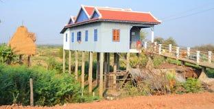Typische huizen op stelten Royalty-vrije Stock Foto