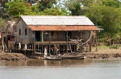 Typische huizen - rivieroever Royalty-vrije Stock Fotografie
