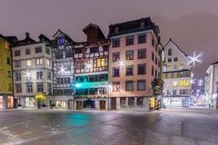 Typische huizen in St Gallen Royalty-vrije Stock Afbeeldingen