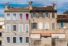 Typische huizen van Marseille Stock Afbeelding