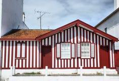 Typische huizen van Nova Costa Royalty-vrije Stock Afbeeldingen