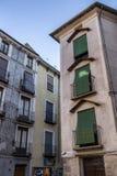 Typische huizenbouw in de oude stad van de stad van Cuenc Royalty-vrije Stock Foto's