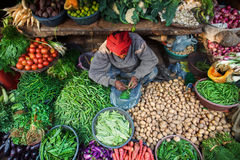 Typische Indische Bazaar Stock Foto's