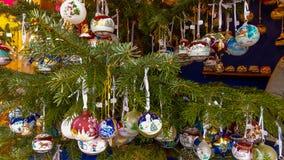 Typische Kerstmismarkt in Piazza Walther van Bolzano, Alto Adige, Italië stock foto
