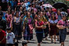 typische kostuums van Guatemala royalty-vrije stock foto