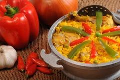 Typische kubanische Nahrung stockbild