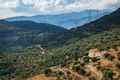 Typische ländliche Landschaft in Griechenland Lizenzfreies Stockfoto