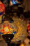 Typische lampen van Turkije Kleurrijke antieke lampen Lampen van Ramadan royalty-vrije stock afbeeldingen
