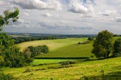 Typische Landschaft in Bretagne Stockbild