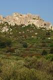 Typische Landschaften von Les-Baux-De-Provence lizenzfreie stockfotos