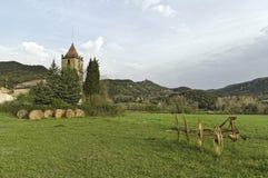 Typische landwirtschaftliche Landschaft des katalanisches in Spanien Stockfotografie