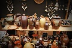 Typische Litouwse kleipotten Royalty-vrije Stock Foto's