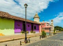 Typische mening in leon Nicaragua royalty-vrije stock afbeelding