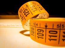 Typische Messgeräte benutzt im Schneider lizenzfreies stockbild