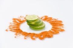 Typische Mexicaanse mengeling: Chili en citroen Stock Foto