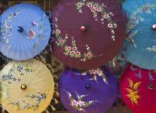 Typische Myanmar Paraplu's Royalty-vrije Stock Afbeelding