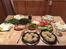 Typische Nahrung Lizenzfreie Stockfotos