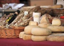 Typische Nahrung des Italieners stockfotografie