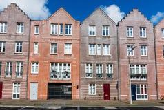Typische Nederlandse kleurrijke huizen, Den Haag Den Haag, Nederland Royalty-vrije Stock Afbeeldingen