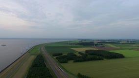 Typische Nederlandse landschappen: Flevoland stock video
