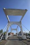 Typische niederländische Stadtbrücke Stockbild