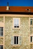 Typische Nizza alte Stadtansicht, Sommertag Stockfotografie