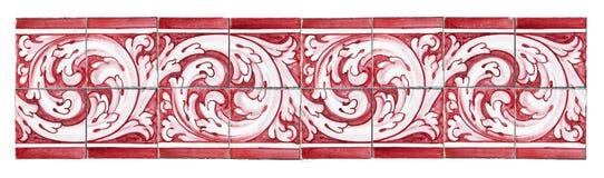 Typische Portugese decoratie met gekleurde keramische tegels - het is een naadloze textuur die kan worden herhaald modulair om a  stock foto's