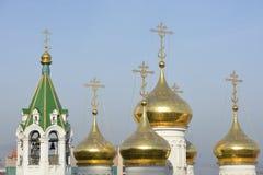 Typische Russische kerk Royalty-vrije Stock Afbeeldingen