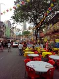 Typische scène van de straat van de Sterheuvel Stock Fotografie