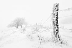 Typische schneebedeckte Landschaft in den Erz-Bergen, Tschechische Republik Lizenzfreies Stockbild