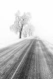 Typische schneebedeckte Landschaft in den Erz-Bergen, Tschechische Republik Lizenzfreie Stockfotos