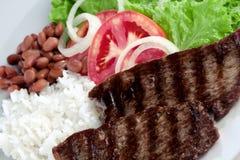 Typische schotel van Brazilië, rijst en bonen stock afbeelding