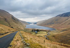 Typische schottische Landschaft im Winter Stockfotos