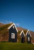 Typische Skandinavische huizen Stock Afbeelding