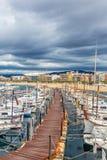 Typische Spaanse boten in haven Palamos, 19 Mei, 2017 Spanje Royalty-vrije Stock Afbeelding