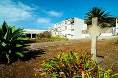 Typische Spaanse Mediterrean-Begraafplaats Stock Afbeelding