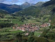 typische Stadt in Carmona, Cantabria, Stockbild