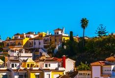 Typische Stadtarchitektur in Andalusien, charakteristisches Gebäude stockfoto