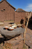 Typische steen en modderlijst stock afbeeldingen