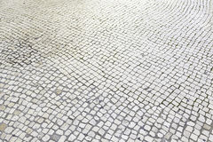 Typische steenvloer van Lissabon Stock Fotografie