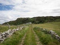 Typische Steinwände auf den irischen Gebieten nahe Maghery, Donegal Stockfotografie