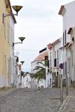 Typische Straße in Lagos, Algarve, Portugal stockbilder