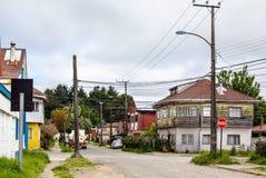 Typische Straße in Valdivia Lizenzfreie Stockbilder