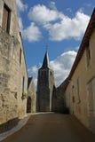 Typische Straßen-Ansicht, Loire Valley, Frankreich Lizenzfreie Stockbilder