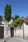 Typische Straßen-Ansicht, Loire Valley, Frankreich Lizenzfreie Stockfotos