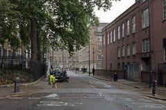 Typische straat in Bloomsbury, Londen Royalty-vrije Stock Foto's